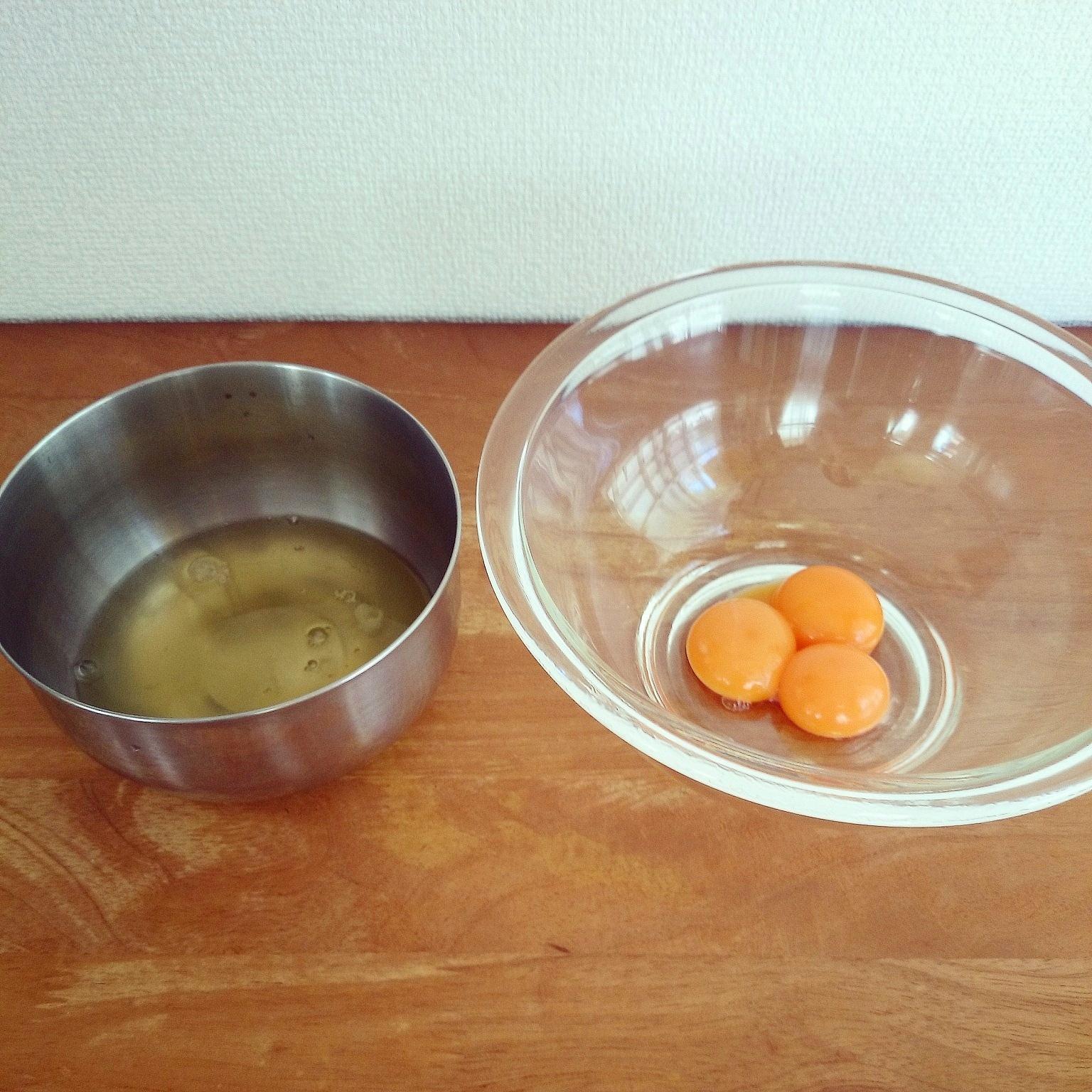 卵白・卵黄の冷凍保存法❁余った卵をシフォンケーキに♪