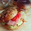 頂きものベーグルで作る朝食サンドと手土産、初めましてのお話❁
