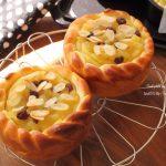 秋の味覚たっぷり♪さつま芋と紅玉のタルトパン❁レシピ付き