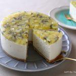キウイのレアチーズケーキ練習②❁