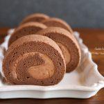 チョコレートロールケーキ&蒸しパン練習❁